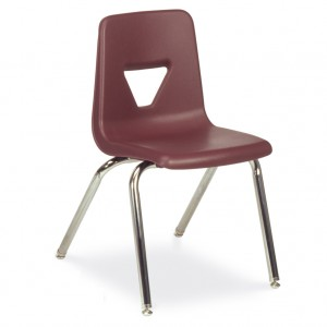 maroon chair for classrooms or office