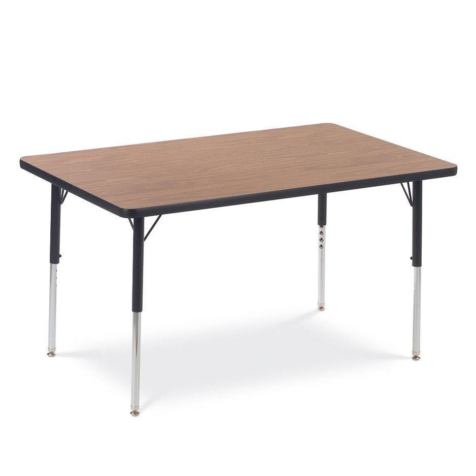 brown activty table for schools or classrooms