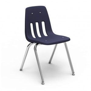 black stackable student chair for classrooms or schools