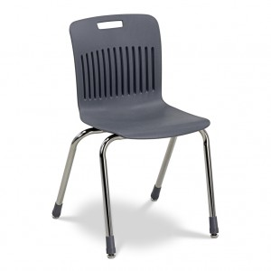 black stackable chair for school or classroom