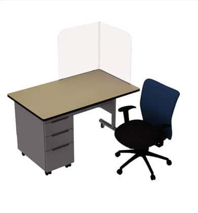 teachers chair plexiglass screen